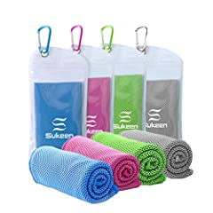 INSTANT COOLING, REUSABLE - Hyper-evaporative breathable mesh material makes it easy to activate the chilling towel when you simply soak, wring out and snap it. The unique cooling system uses moisture from the towel to draw the sweat away from your s...