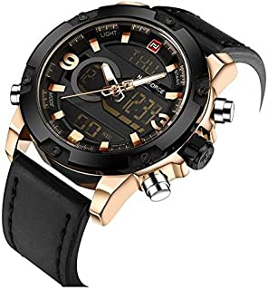 Naviforce Sport Watch For Men Analog Leather - 9097