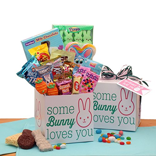 Free 1-3 Day Delivery - Somebunny Loves You Easter Care Package Perfect for college students, great gift for boys and girls by Gift Baskets Associates