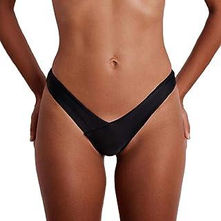 comprar comparacion Luckycat Braguitas Brasileñas para Mujer Verano Tanga Bikini Bottom Tanga de Baño Tanga Ropa Interior de Playa Braguitas d...