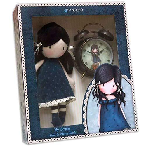 Gorjuss CK-01A-G Geschenkset Puppe und Wecker You Brought Me Love