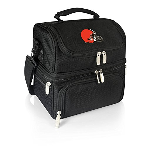 PICNIC TIME NFL Cleveland Browns Pranzo Insulated Lunch Tote with Service for One, Black
