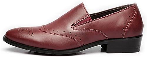 JIALUN-Schuhe Mode Herren Low Top Business Schuhe Matte Atmungsaktiv Hohl Carving PU Leder Slip-on Gefütterte Oxfords (Farbe   Weiß, Größe   26.5CM)