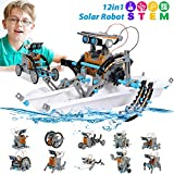 STEM Toy Solar Robot Kit 12-in-1 Learning Science Building Toy for Science kits 10 year old...