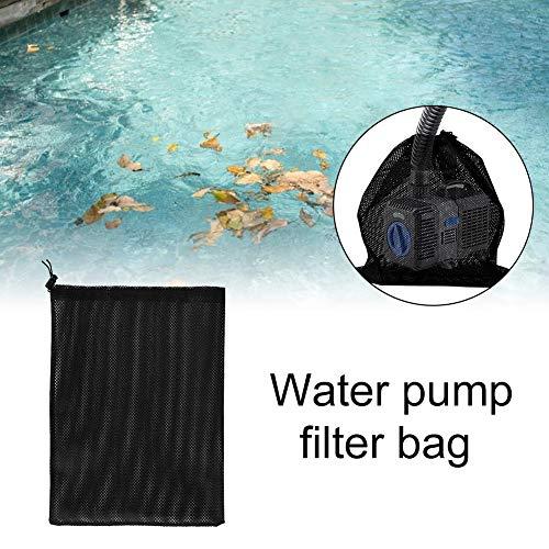 Evenlyao Großer Pump Barrier Bag, Teichpumpenfilterbeutel, Großer Pump Mesh Bag Mit Kordelzug Für Biologische Teichfilter 12,2 X 15,9 Zoll