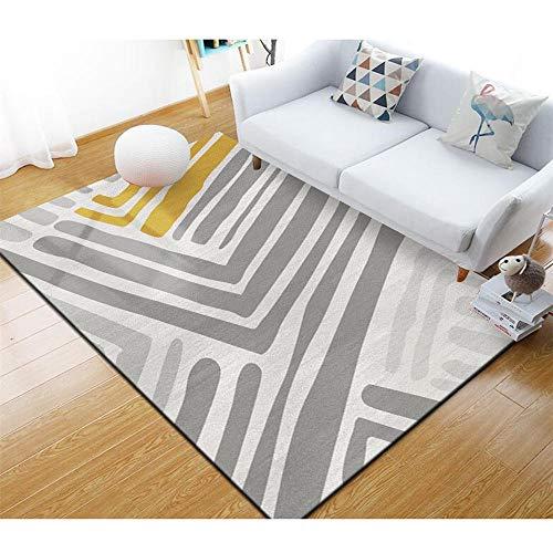 alfombras salón Camas Modernas Alfombra Rectangular de Estilo Moderno Suave y Lavable para salón y Dormitorio Muebles Sala de Estar 160X230CM