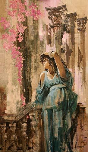 hllhpc Pintura al óleo artesanía hogar Imprimir Imagen Bailarina Lienzo -60x90 cm púrpura