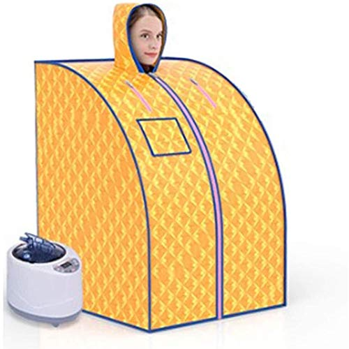 AY Faltbare Dampfsauna 2L Mobile Personal Therapeutische Sauna-Zelt for Heim for Gewichtsverlust mit Hut, Steamer, Fern Controlgold