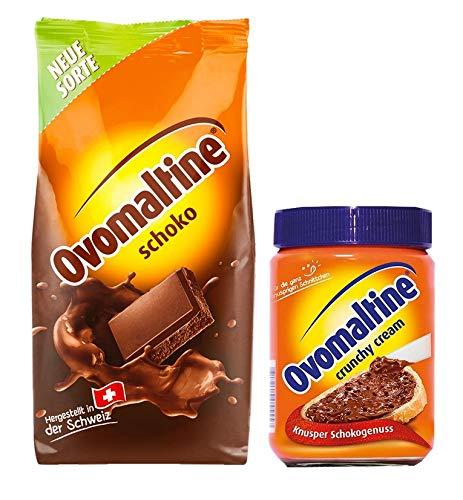 Ovomaltine Pulver Schokolade 450g + Crunchy Creme 380g (Set)