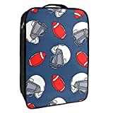 Boîte de rangement pour chaussures de voyage et usage quotidien - Motif casque de rugby - Portable - Étanche jusqu'à 12 m - Avec double fermeture éclair - 4 poches