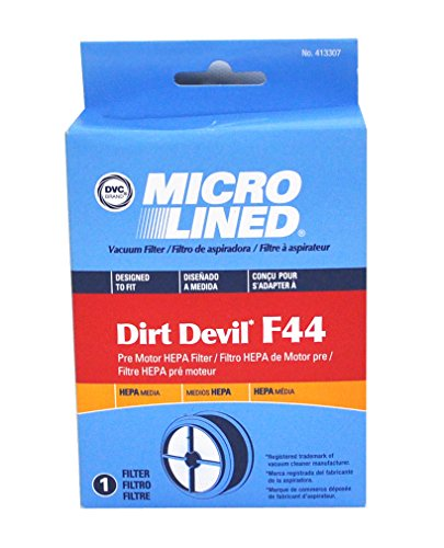 Dirt Devil Vacuum Cleaner F44 HEPA Filter; Replaces Dirt Devil Part # 304019001 (3-04019-001) & Fits Quick Lite Models UD20015 UD20020 UD20025