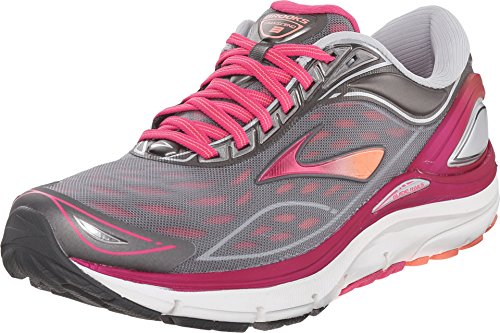 Brooks Women's Transcend 3, Silver/Pink, 6 B