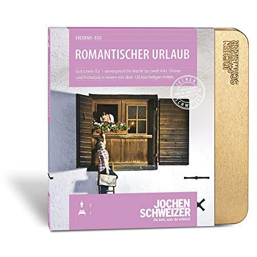 Jochen Schweizer Hotelgutschein ROMANTISCHER URLAUB für 2   1 ÜN für 2 Personen   inkl. Gutschein für Frühstück und Abendessen  110 Hotels vorwiegend 4****   inkl. Geschenkbox