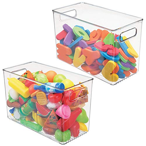 mDesign Plastic Home Storage Organizer Bin for Cube Furniture Shelving in Office, Entryway, Closet, Cabinet, Bedroom, Laundry Room, Nursery, Kids Toy Room - 7.5