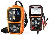 FOXWELL NT201 Check Engine Light OBD2 Scanner and FOXWELL BT705 12V 24V Car Battery Tester
