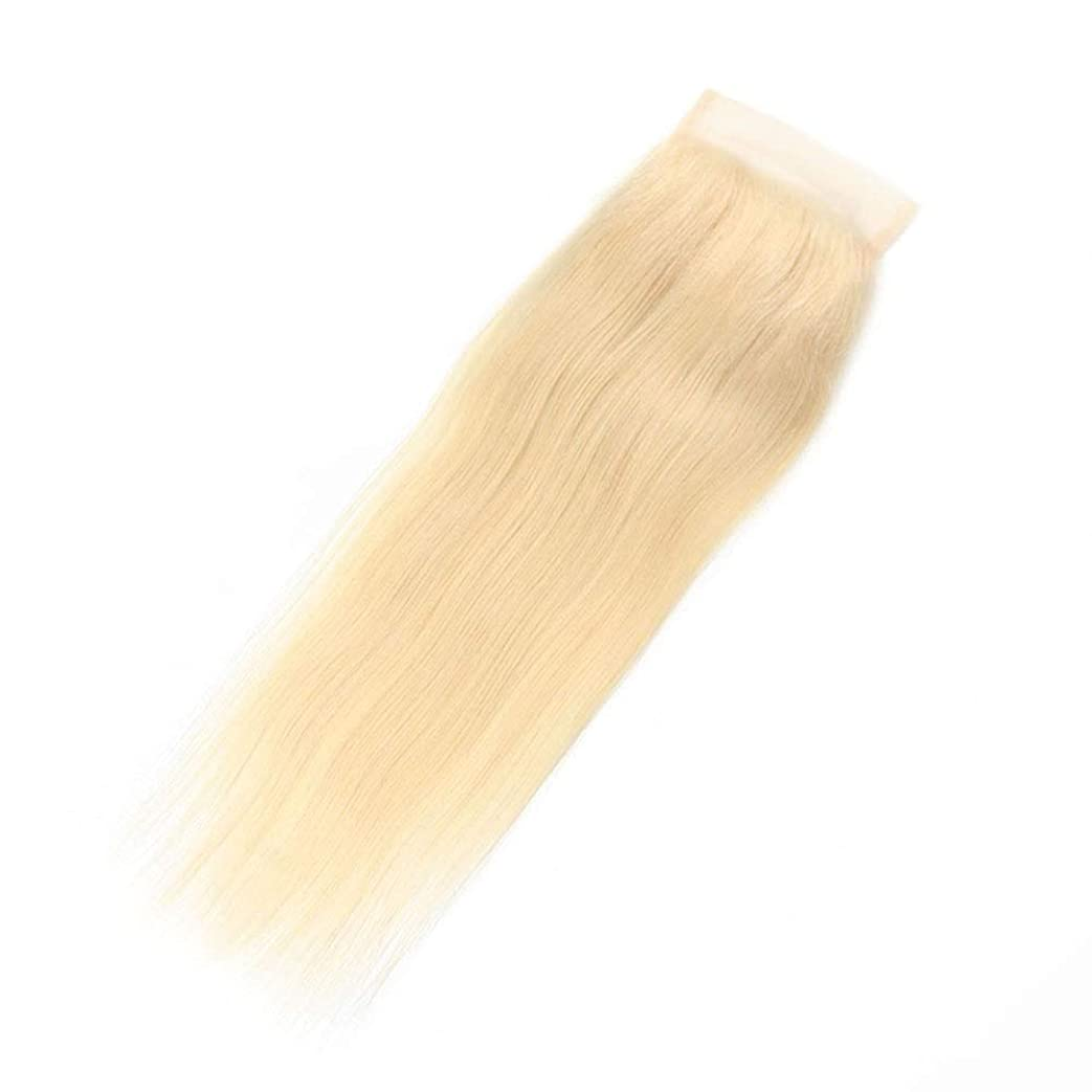 BOBIDYEE 金髪の絹のようなストレートのブラジル人のRemy人間の髪の毛のレースの前頭(4