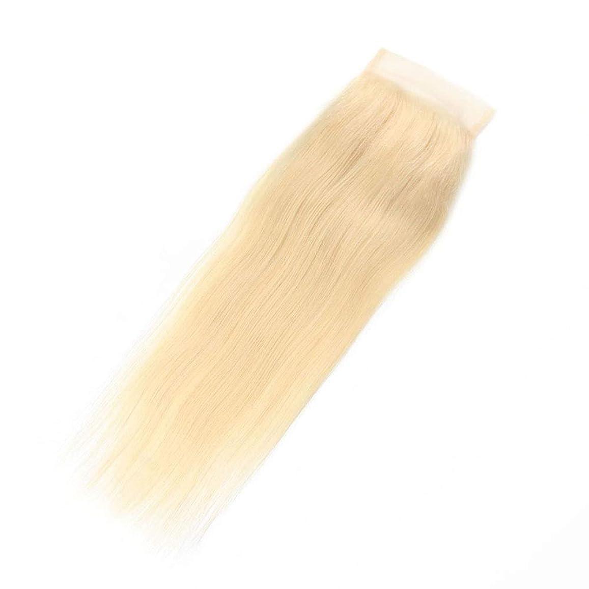 試み睡眠消すBOBIDYEE 金髪の絹のようなストレートのブラジル人のRemy人間の髪の毛のレースの前頭(4