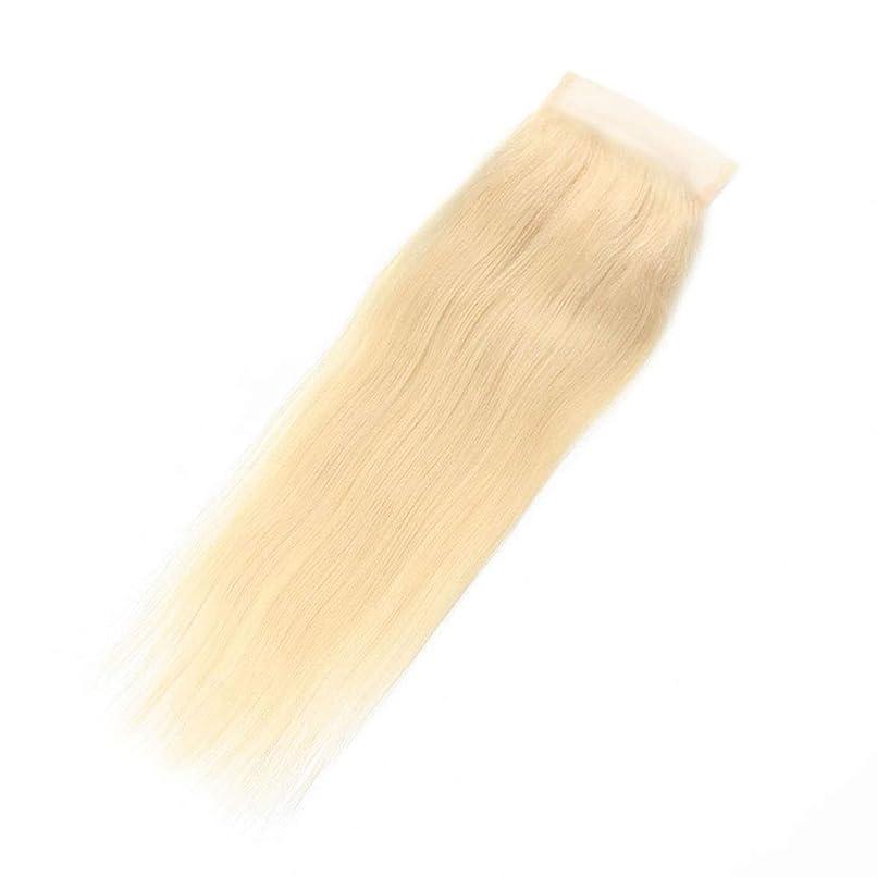 匹敵します弓咲くBOBIDYEE 金髪の絹のようなストレートのブラジル人のRemy人間の髪の毛のレースの前頭(4