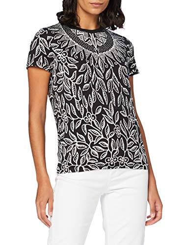 Desigual TS_DIEGUITA Camiseta, Negro, M para Mujer