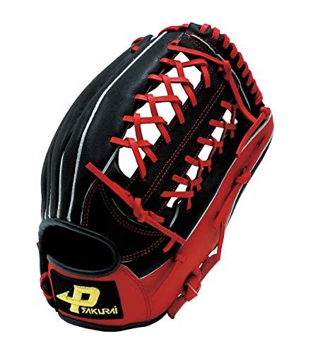 サクライ貿易(SAKURAI) PROMARK(プロマーク) 一般ソフトボール用グローブ オールラウンド用 Lサイズ 3号球用 PGS-3153(N21)右投用ブラック×レッド