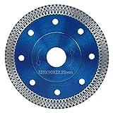 LILICEN Saw Blade Diamante de Sierra Pala de turbina Caliente 105/115/125 CD Pulido de mármol de Granito Hoja de Corte Amoladora Angular de cerámica (Color : 125mm)