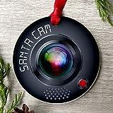 Ornamento de Navidad 2020 Santa Cam | Cámara de Papá Noel | Vigilancia del Polo Norte | Decoración de Navidad | Adorno de Papá Noel | Ornamento del Polo Norte | Adorno del árbol de Navidad