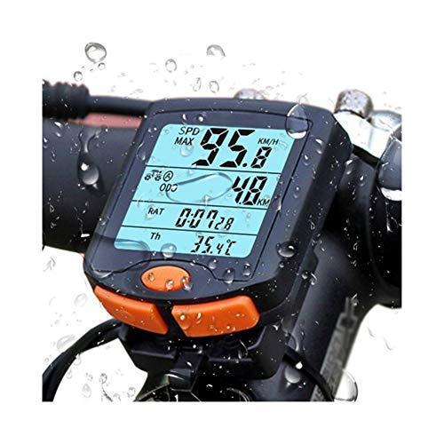 Bike Speed Meter Digitale Multifunzione Bike Computer Impermeabile di Sport Sensori del calcolatore della Bicicletta Tachimetro (Color : Wired)