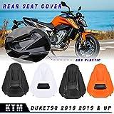 LoraBaber Motorrad Duke790 Kunststoff Beifahrersitz Verkleidung Abdeckung Motorhaube Heckabdeckung für K-T-M Duke 790 Zubehör (Orange)
