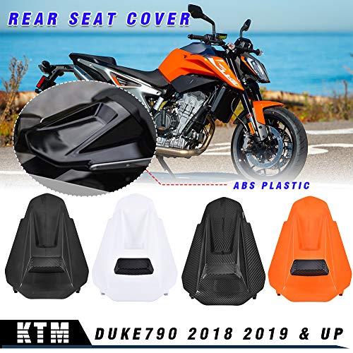 LoraBaber Motorrad für Duke790 Kunststoff Beifahrersitz Verkleidung Abdeckung Motorhaube Heckabdeckung für KTM Duke 790 Zubehör (Kohlefaseroptik)