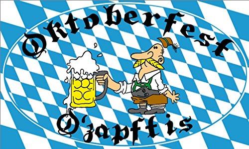 Oktoberfest Fahne Bayern Flagge Grösse 1,50x0,90m