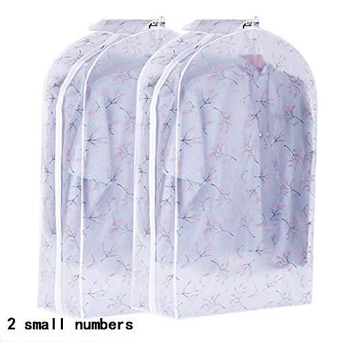 QFFL Sac de compression sous vide Housse anti-poussière, manteau à suspendre transparent pour ménage, sac de rangement pour sac à poussière (2 par paquet) Sac de protection