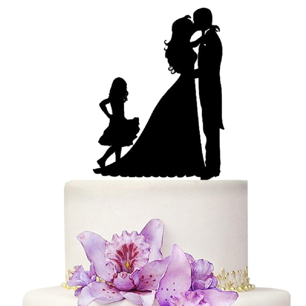 YAMI COCU Wedding Cake Toppers Bride Ranking integrated 1st place and Mesa Mall With little Groom Girl