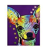 DIY-Perro de Color Digital DIY Pintura al óleo Pintura por Número de Kits decoración del Arte de la Pared de la Lona de Lino