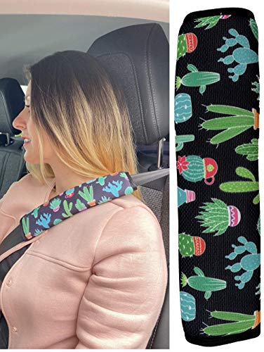 1x HECKBO cactus protecteur de ceinture de sécurité de voiture pour adultes coussin d'épaule coussin de ceinture de sécurité pour sièges de voiture - protège de la coupure de la ceinture.