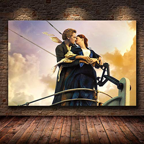 Ayjxtz Jigsaw puzzle 1000 piece Titanic sailing classic film art painting jigsaw puzzle 1000 piece animals Skill game for the whole family, colorful placement game50x75cm(20x30inch)