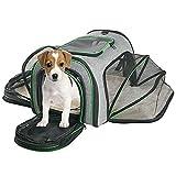 Minthouzペットキャリー 犬 猫 キャリーバッグ キャリー・カート 拡張可能 通気性 折りたたみ中小型犬用ペットバッグ 旅行 通院 散歩 アウトドア お出かけに便利