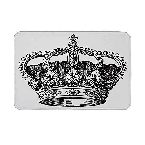 Alfombrilla Antideslizante Queen, Antiguo Royal Crown Kingdom Emperador Gobernante Zar Símbolo Monarquía...