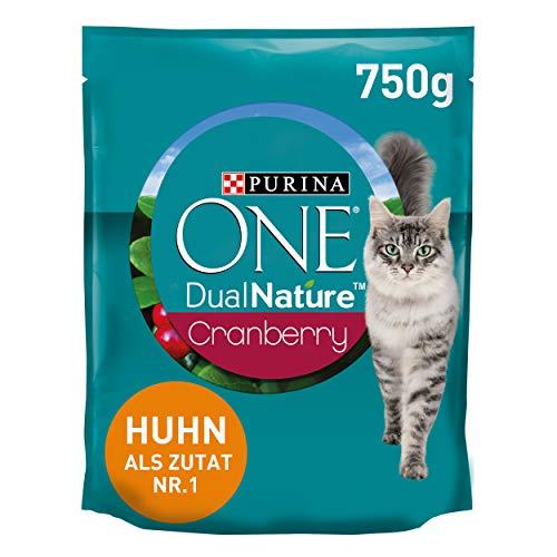 PURINA ONE Dual Nature Katzenfutter trocken, reich an Huhn, 6er Pack (6 x 750g)