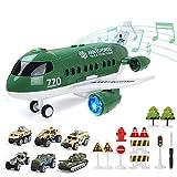 Coolplay Juego de juguete de avión de rescate para vehículos militares del ejército para niños regalo pequeño coche juguete para niños 3 años de edad