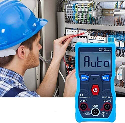 MultíMetro Digital Dc Ac VoltíMetro Bluetooth Probador De Control De AplicacióN InaláMbrica Con Ohm Volt Amp Y Diodo Probador De Voltaje Medidor Prueba De Continuidad