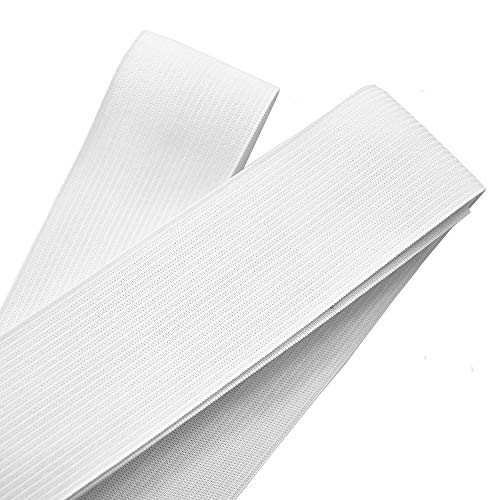 Leline's Elastic Spool, Knit Elastic Band for Sewing, White (1.5 inch X 5 Yard)