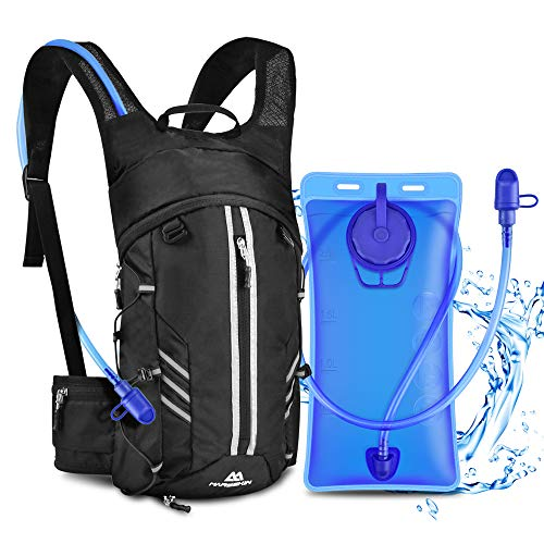 Hydration Backpack with 2L Water Bladder Outdoors Hydration Pack, BPA Free, Light Weight, Adjustable Waist Outdoor Gear for Cycling Hiking Running Climbing