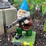 AMZYY Lustige Armee-Garten-Kobold-Statue, 3 lustige Armee-Garten-Kobold-Statue-Harz, Armee-Garten-Kobold-Statue-Harz-Gartendekorationen