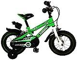 """Kawasaki, Bicicletta per Bambino con Licenza, Verde, 12"""""""