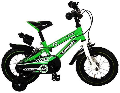 Kawasaki, Bicicleta Infantil con Licencia Verde, 12 Pulgadas