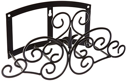 Panacea Products Classic Finial and Scrolls Hose Hanger, Black