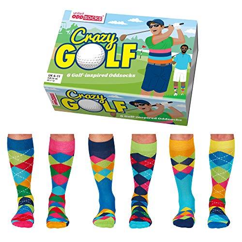 Crazy Golf Golfer Oddsocks Socken in 39-46 im 6er Set - Strumpf