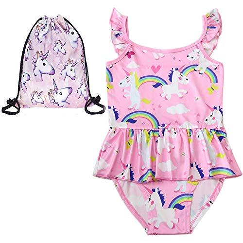 LX-Top Niña Traje baño Unicornio Ruffle Swimwear