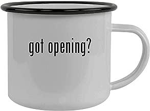 got opening? - Stainless Steel 12oz Camping Mug, Black