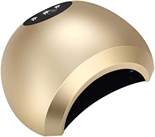 Secador UñAs, 48w UV LED Profesional Lampara UñAs Gel Semipermanentes Maquina UñAs Luz Lamp con Sensor Automatico,3 Temporizadores Hogar Manicura/Pedicure Nail,Oro